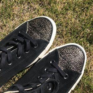 Converse Shoes - Women's  Black Converse with Fur